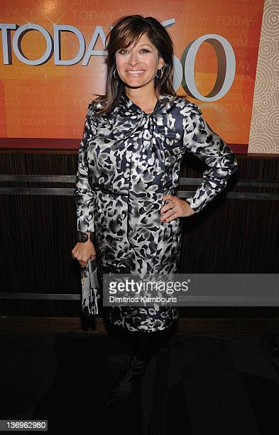 Maria Bartiromo attends the TODAY Show 60th anniversary celebration at The Edison Ballroom on January 12 2012 in New York City