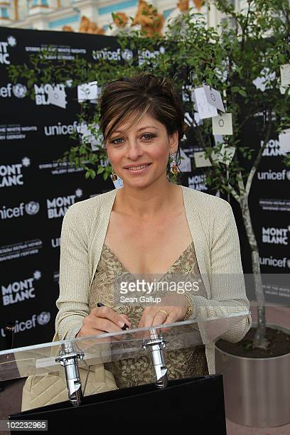 Maria Bartiromo business news anchor of CNBC attends the Mariinsky Ball of Montblanc White Nights Festival at Catherine Palace on June 19 2010 in...