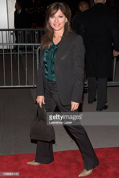 Maria Bartiromo during The Sopranos Sixth Season New York City Premiere Outside Arrivals at Museum of Modern Art in New York City New York United...
