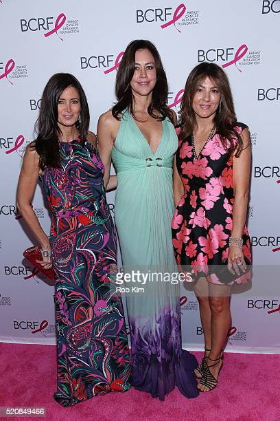 Maria Baum Shelly Brown and Christina Steinbrenner attend 2016 Breast Cancer Research Foundation Hot Pink Party at The Waldorf=Astoria on April 12...