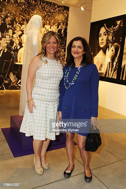 Maria Bell and Debra Black at Ladies' Luncheon hosted by Debra Black to Preview The Elizabeth Taylor Collection from CHRISTIE'S held at MOCA Pacific...