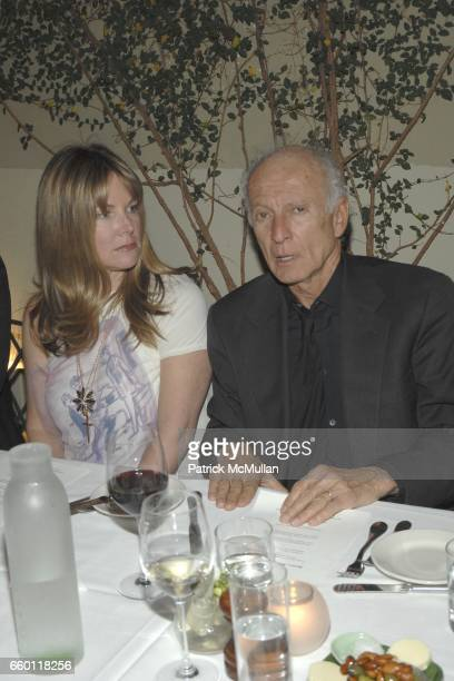 Maria Bell and Ron Delsener attend SHE Images of women by Wallace Berman and Richard Prince Opening at Michael Kohn Gallery on January 15 2009 in...