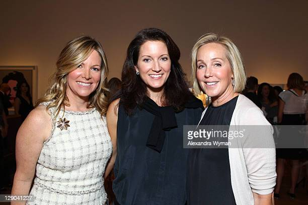 Maria Bell Julie Jaffe and Krista McDermott at Ladies' Luncheon hosted by Debra Black to Preview The Elizabeth Taylor Collection from CHRISTIE'S held...