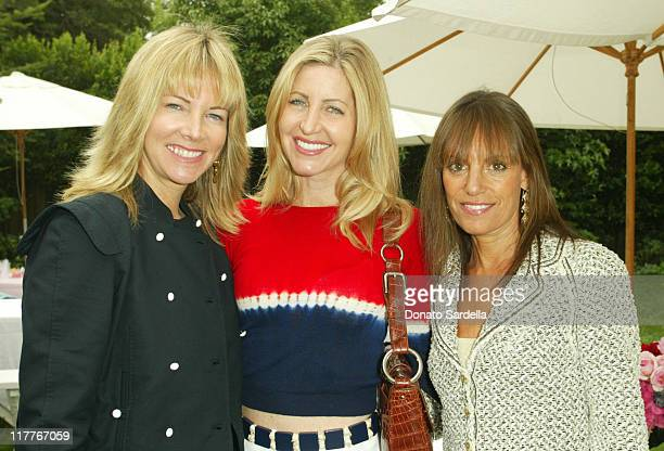 Maria Bell Laurie Feltheimer and Julia Sorkin during Escada Kidswear Launch Party and Birthday at the Home of Patty Penske at Patty Penske Home in...