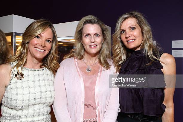 Maria Bell, Nancy Davis and Lynn Palmer at Ladies' Luncheon hosted by Debra Black to Preview The Elizabeth Taylor Collection from CHRISTIE'S held at...
