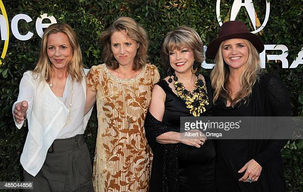 Maria Bello Amy Redford Pat Mitchell and Clare Munn arrives for the 2015 Sundance Institute celebration benefit held at 3LABS on June 2 2015 in...
