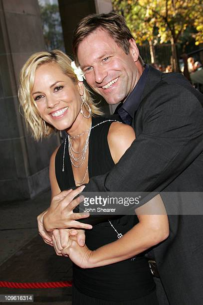 Maria Bello and Aaron Eckhart during 2005 Toronto Film Festival Thank You For Smoking Premiere at Sutton Place Hotel in Toronto Canada