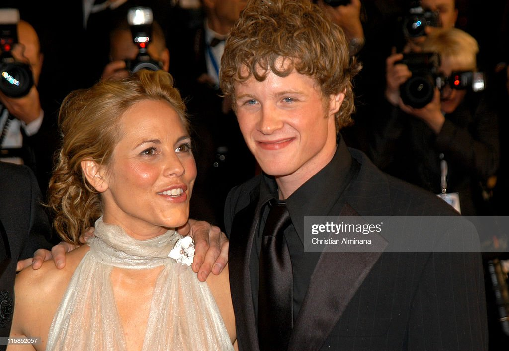 Maria Bello and Ashton Holmes during 2005 Cannes Film Festival - 'A History of Violence' Premiere at Palais de Festival in Cannes, France.