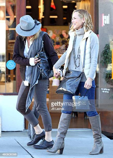 Maria Bello and Clare Munn are seen on December 23 2014 in Los Angeles California