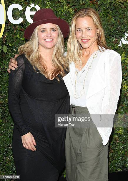 Maria Bello and Clare Munn arrive at the 2015 Sundance Institute Celebration Benefit held at 3LABS on June 2 2015 in Culver City California