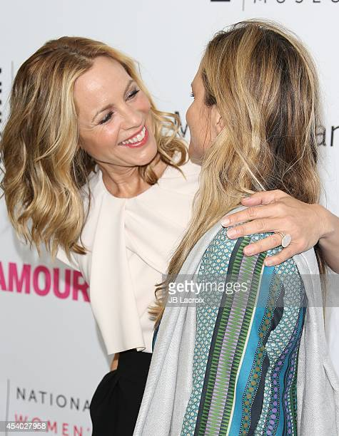Maria Bello and Clare Munn attend the 3rd Annual Women Making History Brunch presented by the National Women's History Museum and Glamour Magazine at...