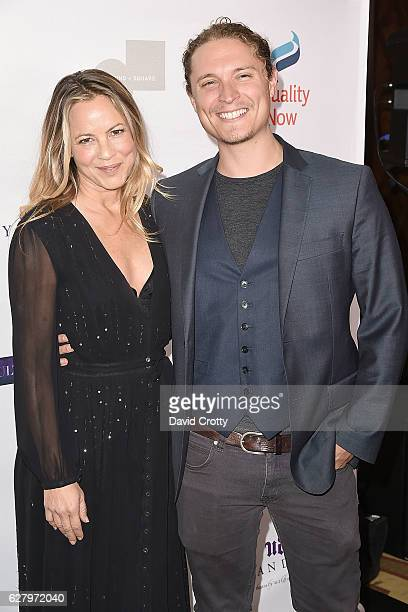 Maria Bello and Elijah AllanBlitz attend Equality Now's 3rd Annual Make Equality Reality Gala Arrivals at Montage Beverly Hills on December 5 2016 in...