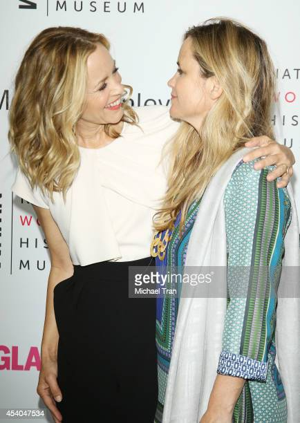 Maria Bello and girlfriend Clare Munn arrive at the National Women's History Museum's 3rd Annual Women Making History event held at Skirball Cultural...