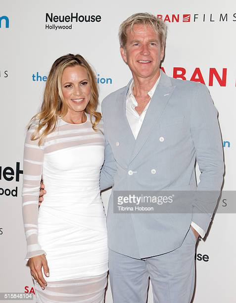 Maria Bello and Matthew Modine attend the premiere of Saban Films' 'The Confirmation' on March 15 2016 in Los Angeles California