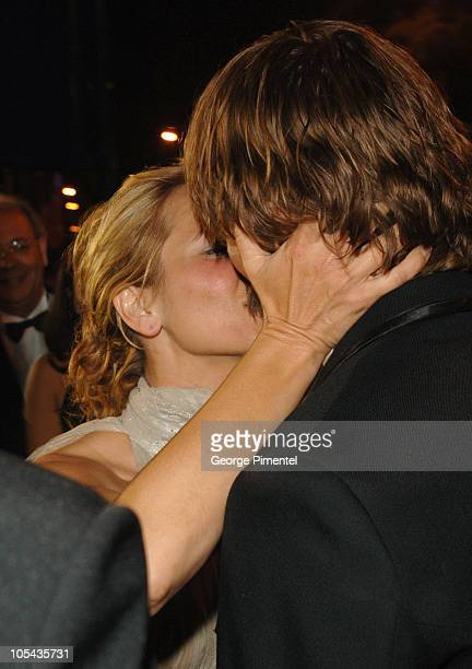 Maria Bello and Viggo Mortensen during 2005 Cannes Film Festival 'A History of Violence' Premiere in Cannes France