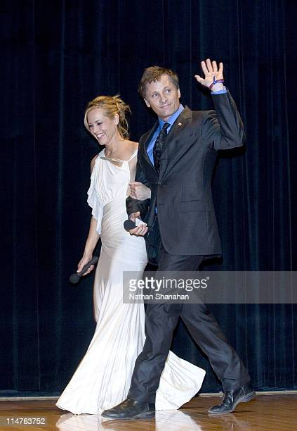 Maria Bello and Viggo Mortensen during 'A History of Violence' Tokyo Premiere at Canadian Embassy in Tokyo Japan