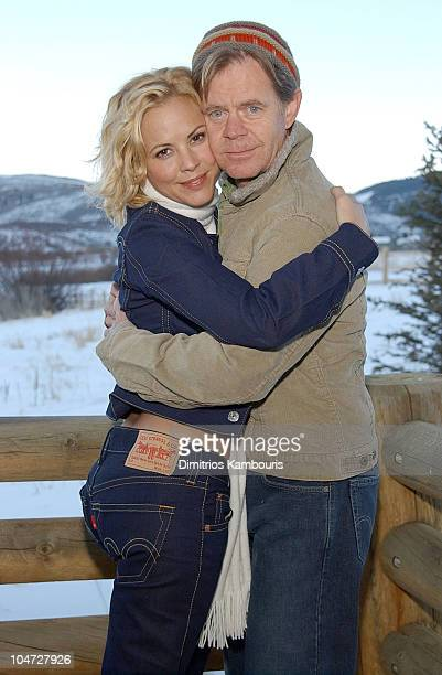 Maria Bello and William H Macy during 2003 Park City The Levi's Lodge Day Four at The Levi's Lodge in Park City UT United States