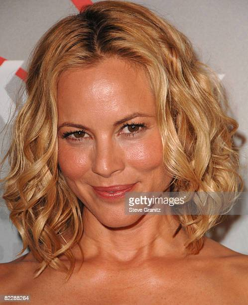 Maria Bello arrives at The 2008 Crystal Lucy Awards 'A Black And White Gala' on June 17 2008 at the Beverly Hilton Hotel in Beverly Hills California