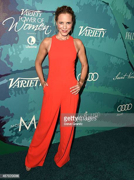 Maria Bello arrives at the Variety's 2014 Power Of Women Event In LA Presented By Lifetime at the Beverly Wilshire Four Seasons Hotel on October 10...