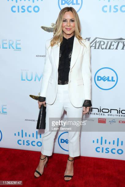 Maria Bello attends 10th Annual Lumiere Awards at Warner Bros Studios on January 30 2019 in Burbank California