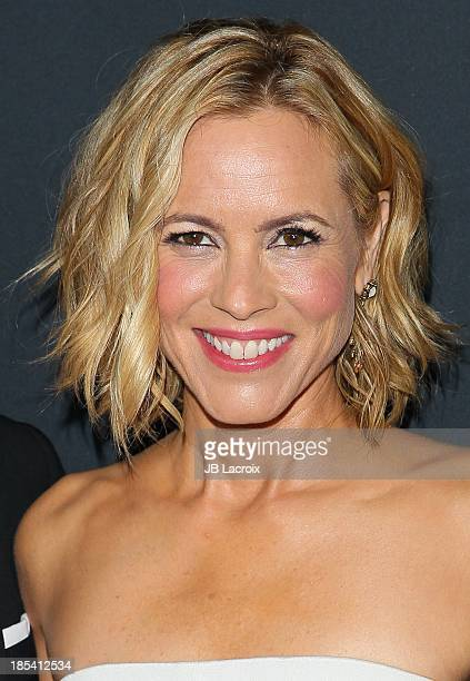 Maria Bello attends Elyse Walker Presents The Pink Party 2013 hosted by Anne Hathaway at The Barker Hanger on October 19 2013 in Santa Monica...