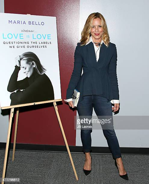 Maria Bello attends Live Talks Los Angeles with Mario Bello In Conversation with Camryn Manheim at the Aero Theater on May 5 2015 in Santa Monica...