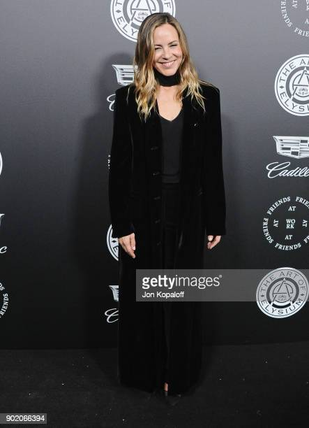 Maria Bello attends The Art Of Elysium's 11th Annual Celebration Heaven at Barker Hangar on January 6 2018 in Santa Monica California
