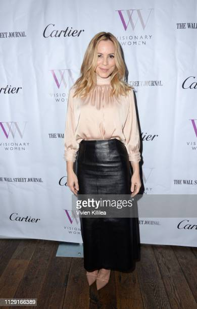 Maria Bello attends Visionary Women's International Women's Day Honoring Patricia and Rosanna Arquette at Spago on March 7 2019 in Beverly Hills...