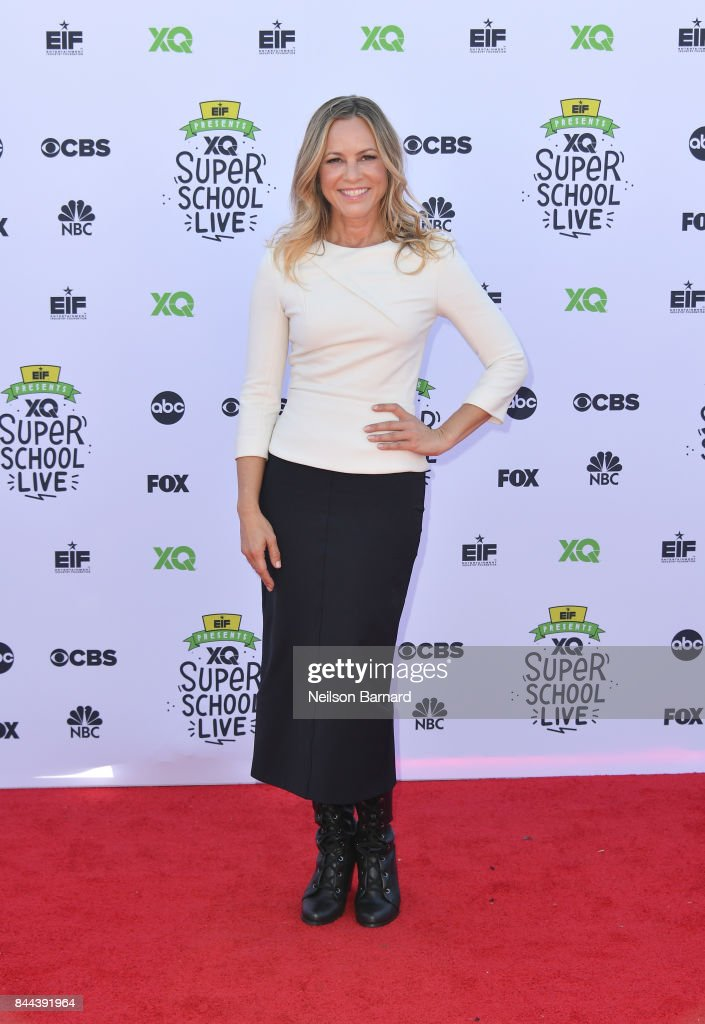 Maria Bello attends XQ Super School Live, presented by EIF, at Barker Hangar on September 8, 2017 in Santa California.
