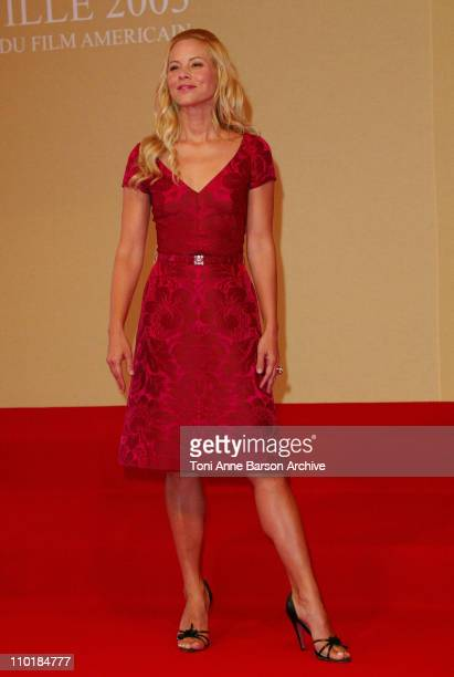 Maria Bello during 2003 Deauville Film Festival 'The Cooler' Photocall at CID in Deauville France