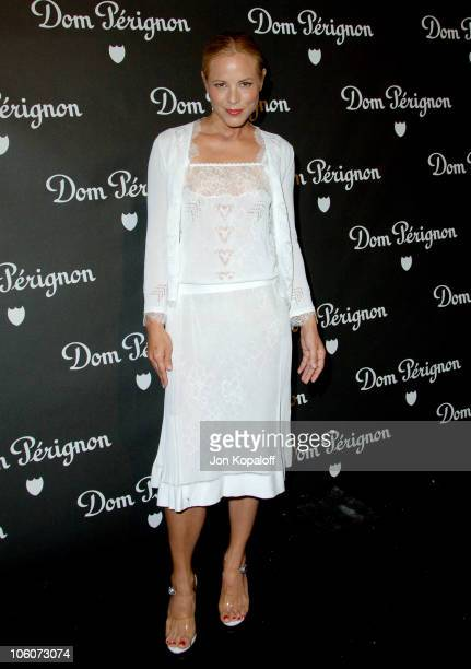 Maria Bello during Dom Perignon and Karl Lagerfeld International Launch Event Arrivals at Private Residence in Beverly Hills California United States