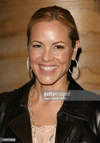 Maria Bello during Gregory Colbert's Ashes and Snow Exhibition Opening Celebration Arrivals at The Ashes and Snow Nomadic Museum in Santa Monica...