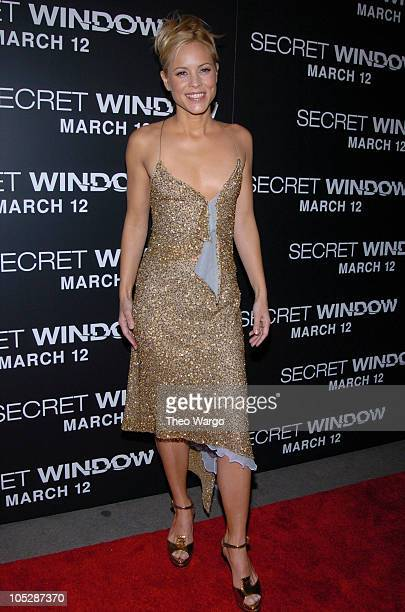 Maria Bello during New York Premiere of 'Secret Window' at Loews Lincoln Square in New York City New York United States