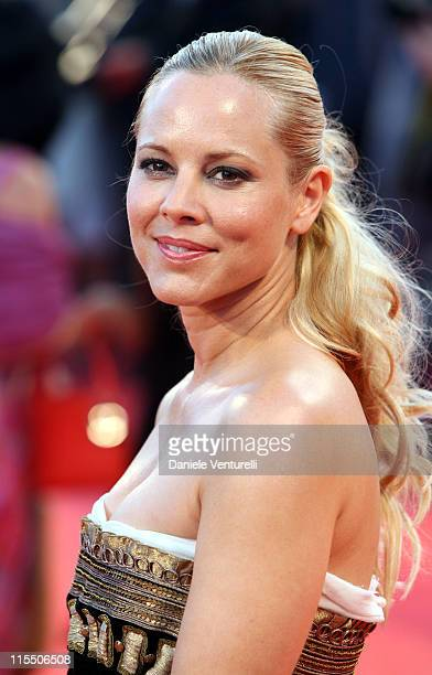 Maria Bello during The 63rd International Venice Film Festival World Trade Center Premiere Arrivals at Palazzo Del Cinema in Venice Lido Italy