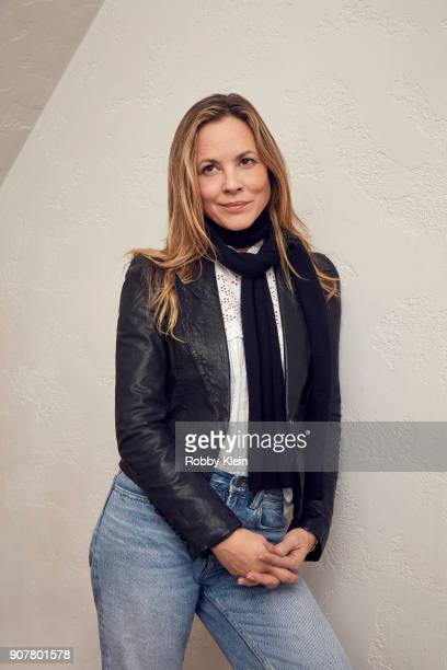 Maria Bello from the film 'The Sun Ladies' poses for a portrait at the YouTube x Getty Images Portrait Studio at 2018 Sundance Film Festival on...