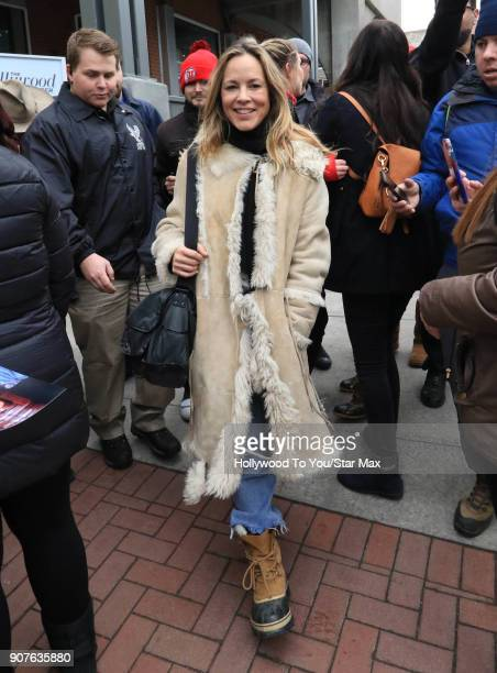 Maria Bello is seen on January 19 2018 in Park City Utah