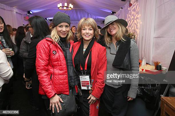 Maria Bello Pat Mitchell and Clare Munn attend the Woman at Sundance Brunch during the 2015 Sundance Film Festival on January 26 2015 in Park City...