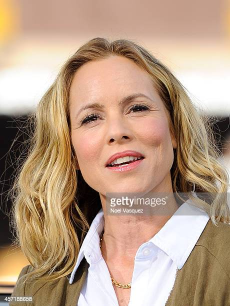 Maria Bello visits 'Extra' at Universal Studios Hollywood on October 13 2014 in Universal City California