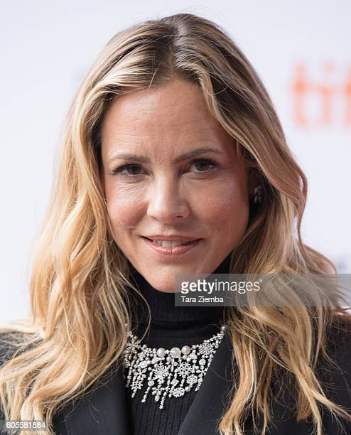 Maria Bello wearing a Birks necklace attends the 'Mean Dreams' premiere wearing a Birks necklace during the 2016 Toronto International Film Festival...