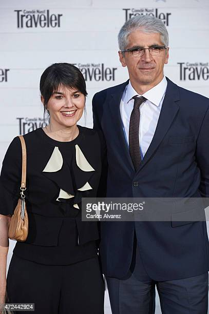 Maria Belon and husband Enrique Alvarez attend the VII Conde Nast Traveler Awards at the Giner de los Rios Foundation on May 7 2015 in Madrid Spain