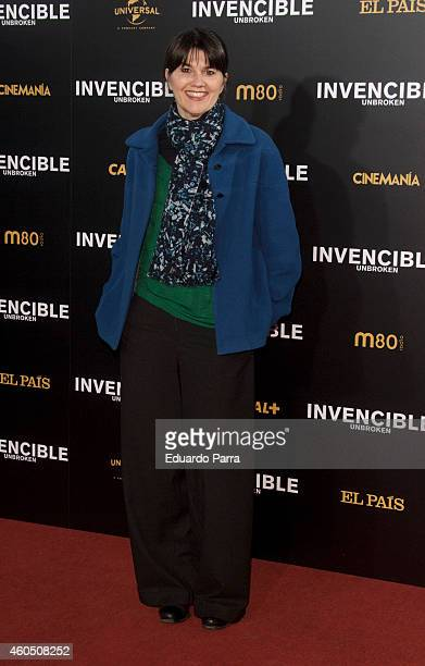 Maria Belon attends Unbroken premiere at the Capitol cinema on December 15 2014 in Madrid Spain