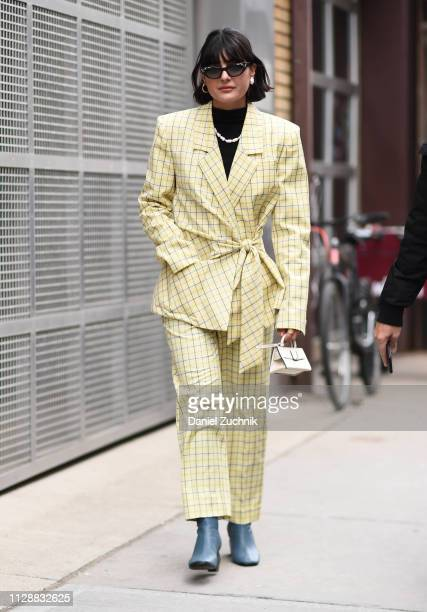 Maria Bernad is seen wearing a Tibi outfit outside the Tibi show during New York Fashion Week Fall/Winter 2019 on February 10 2019 in New York City