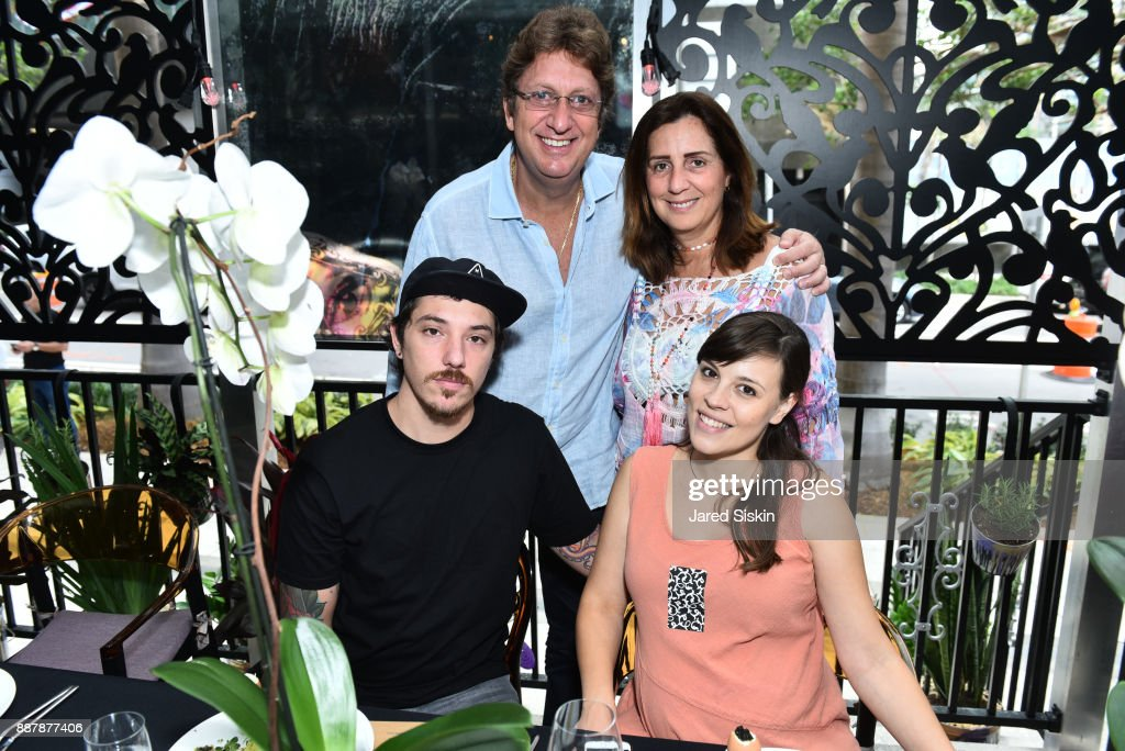 BNS, Maria BNS, Sammy Niego and Monica Niego attend Avant Gallery Celebrates 10th Anniversary With The First Breakfast At LaMuse Cafe During Art Basel on December 7, 2017 in Miami, Florida.