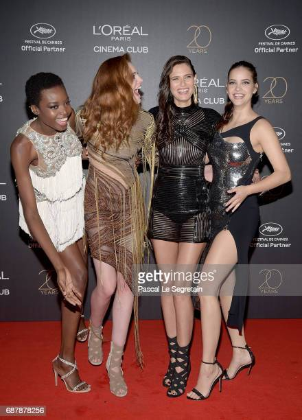 Maria Borges, Alexina Graham, Bianca Balti and Barbara Palvin attend the Gala 20th Birthday Of L'Oreal In Cannes during the 70th annual Cannes Film...