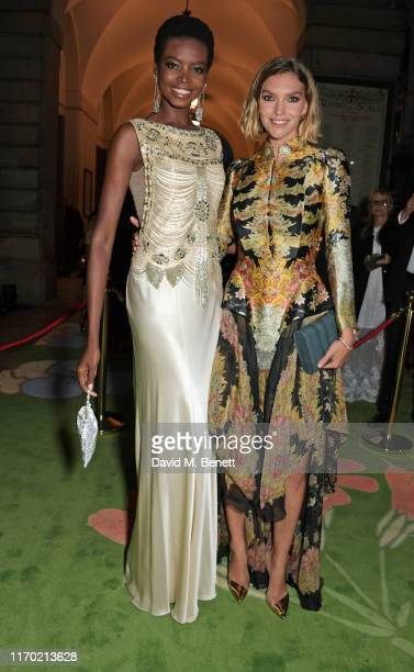 Maria Borges and Arizona Muse attend The Green Carpet Fashion Awards, Italia 2019, hosted by CNMI & Eco-Age, at Teatro Alla Scala on September 22,...