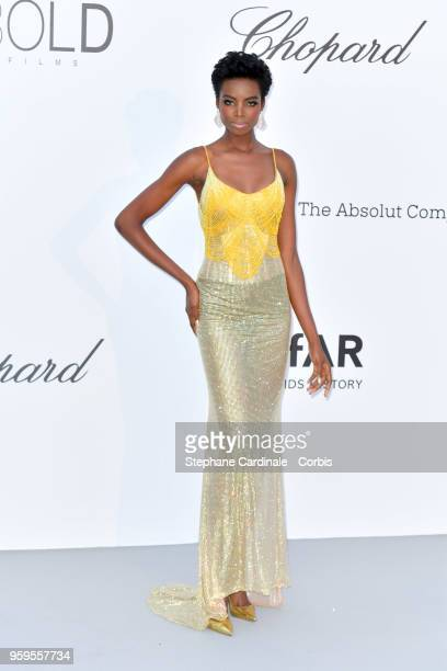 Maria Borges arrives at the amfAR Gala Cannes 2018 at Hotel du CapEdenRoc on May 17 2018 in Cap d'Antibes France