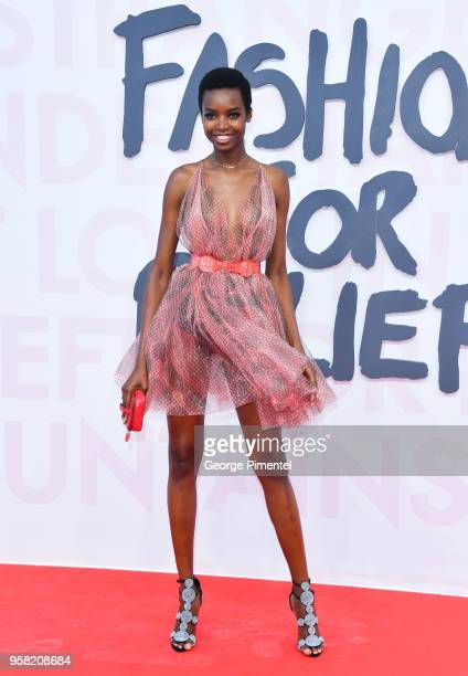 Maria Borges attends Fashion For Relief Cannes 2018 during the 71st annual Cannes Film Festival at Aeroport Cannes Mandelieu on May 13 2018 in Cannes...
