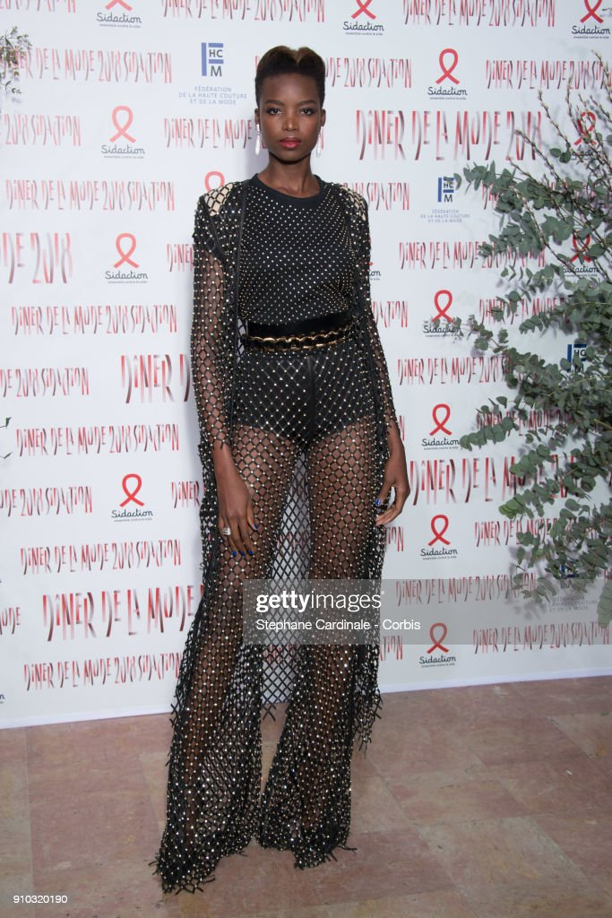 Maria Borges attends the 16th Sidaction as part of Paris Fashion Week on January 25, 2018 in Paris, France.