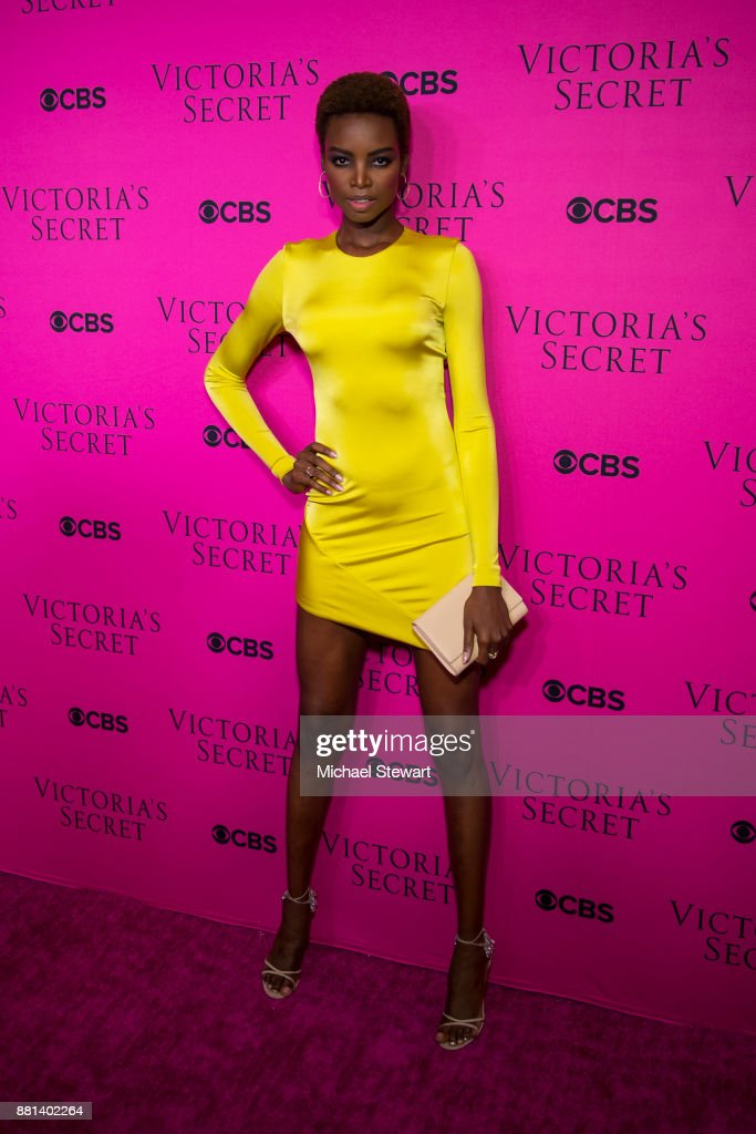 Maria Borges attends the 2017 Victoria's Secret Fashion Show viewing party pink carpet at Spring Studios on November 28, 2017 in New York City.