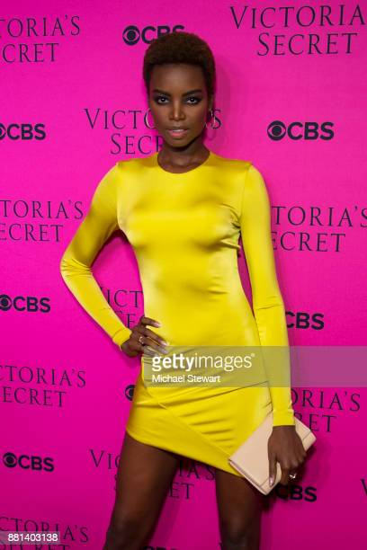 Maria Borges attends the 2017 Victoria's Secret Fashion Show viewing party pink carpet at Spring Studios on November 28 2017 in New York City